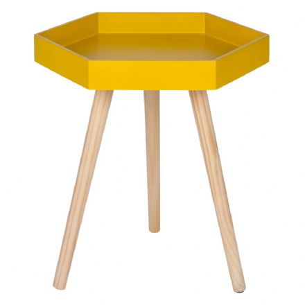 Mustard Painted Side Table